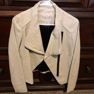 Faux leather fitted jacket